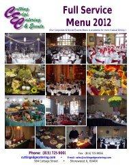 Full Service Menu 2012