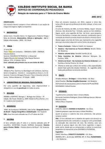 COLÉGIO INSTITUTO SOCIAL DA BAHIA