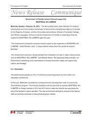 News Release Communiqué
