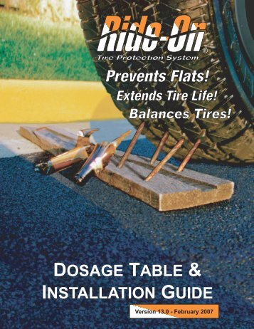 DOSAGE TABLE & INSTALLATION GUIDE