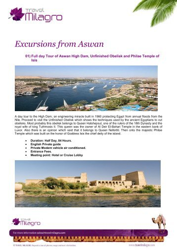 Excursions from Aswan