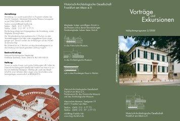 Vorträge Exkursionen - Historisch-Archäologische Gesellschaft ...