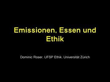 Emissionen Essen und Ethik