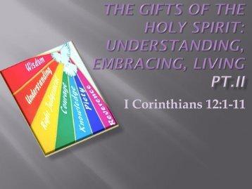 I Corinthians 12:1-11