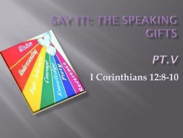 I Corinthians 12:8-10