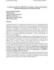 La Representación de la OPS/OMS en Argentina y el desarrollo de ...