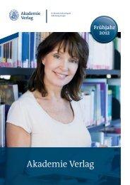 Akademie Verlag - Oldenbourg Verlag