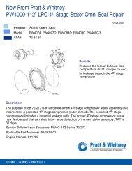"""PW4000-112"""" LPC 4 Stage Stator Omni Seal Repair"""