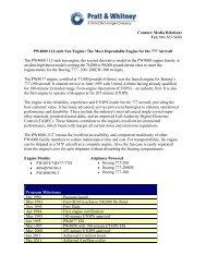 Fact Sheet - Pratt & Whitney - United Technologies