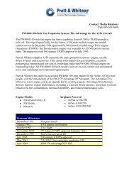 PW4000 100-Inch Fan Propulsion - Pratt & Whitney - United ...
