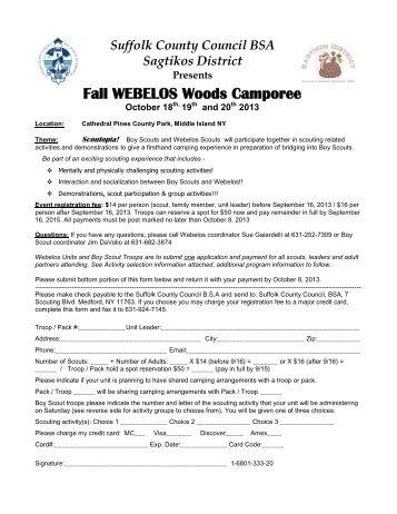 Fall WEBELOS Woods Camporee