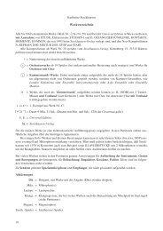 Werkverzeichnis - Karlheinz Stockhausen