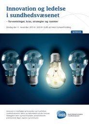 Innovation og ledelse i sundhedsvæsenet