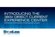 INTRODUCING THE 380V DIRECT CURRENT EXPERIENCE CENTER