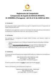 Reglamento de Competición del I Campeonato de España ...
