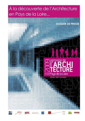À la découverte de l'Architecture en Pays de la Loire... - CAUE