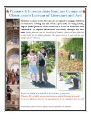 Primary Intermediate Summer Handout - Christianne's Lyceum