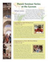 Parent Seminar Series at the Lyceum