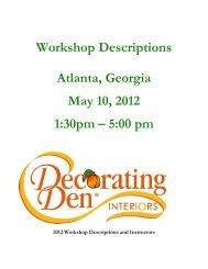 Atlanta Georgia May 10 2012 1:30pm – 5:00 pm