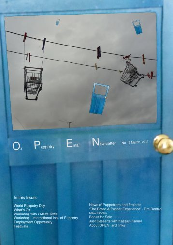 Oz Puppetry Email Newsletter