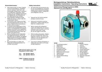 Montageanleitung ERM-2 - ESK Schultze