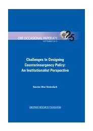Challenges In Designing Counterinsurgency Policy An Institutionalist Perspective