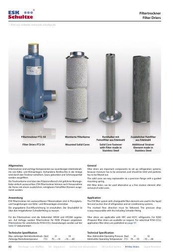 Details Filtertrockner - ESK Schultze