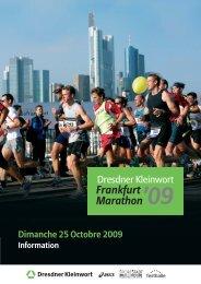 Dimanche 25 Octobre 2009 - BMW Frankfurt Marathon