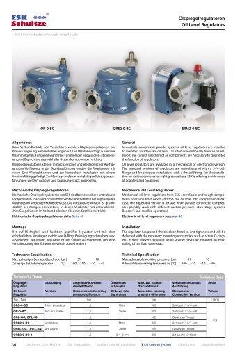 Details Ölspiegelregulatoren (0.39 MB) - ESK Schultze