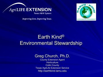 Earth Kind Environmental Stewardship