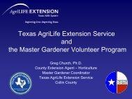 Texas AgriLife Extension Service and the Master Gardener Volunteer Program