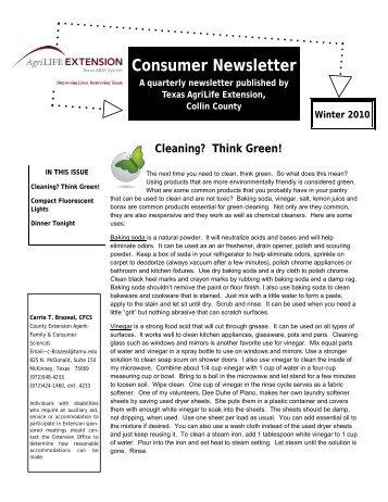 Consumer Newsletter