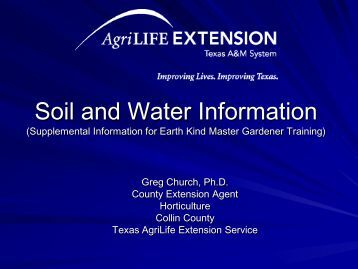 soil tex ForSoil And Water Facts