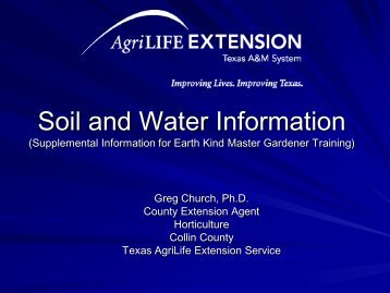 Soil and Water Information