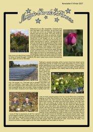 Newsletter 8 Winter 2007