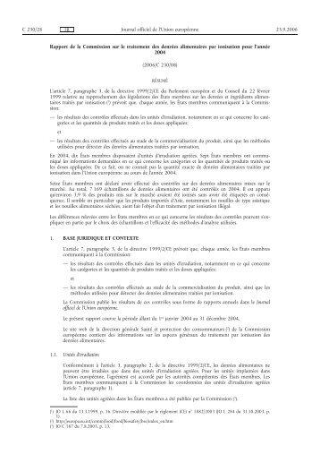 Rapport - EUR-Lex - Europa