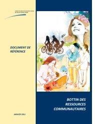 BOTTIN DES RESSOURCES COMMUNAUTAIRES
