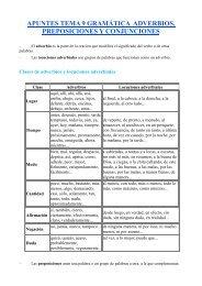 apuntes tema 9 gramática adverbios, preposiciones y conjunciones