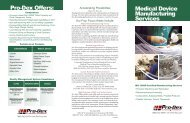 Pro-Dex Offers Medical Device Manufacturing Services