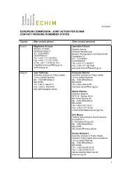 contact persons in member states - echim