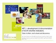 WP 1 development & documentation of ECHI shortlist indicators