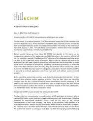A sustained future for ECHI, part 2 May 25, 2012 (first draft ... - echim