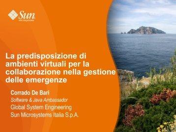 La predisposizione di ambienti virtuali per la collaborazione nella ...