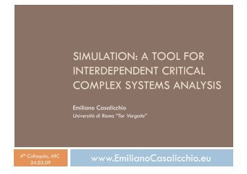 INTERDEPENDENT CRITICAL COMPLEX SYSTEMS ANALYSIS