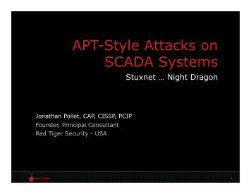APT-Style Attacks on SCADA Systems