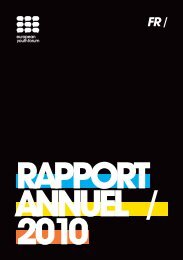 RAPPORT ANNUEL / 2010