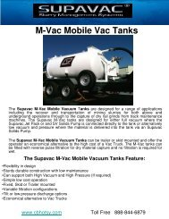 M-Vac Mobile Vac Tanks
