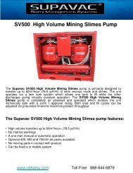SV500 High Volume Mining Slimes Pump