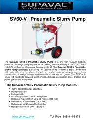 SV60-V | Pneumatic Slurry Pump