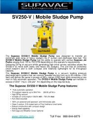 SV250-V | Mobile Sludge Pump